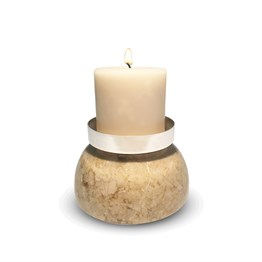 Marble Candle Holder Beige 229-1
